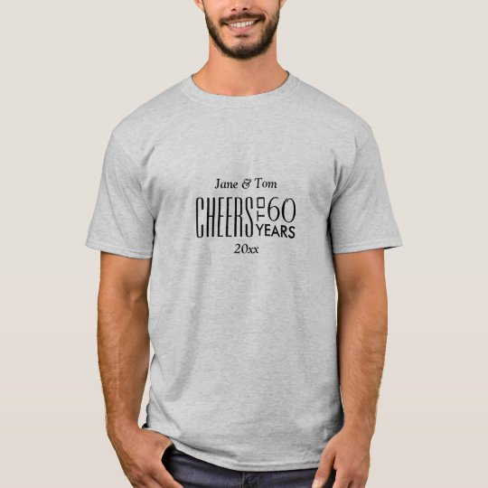 Cheers to 60 Years Wedding Anniversary Gift T-Shirt