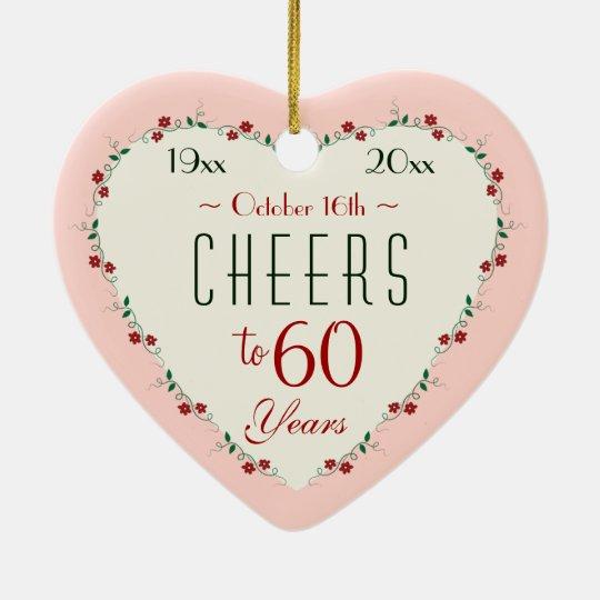 Cheers to 60th Wedding Anniversary Christmas Gifts Christmas