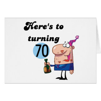 Cheers to 70 Birthday Tshirts and Gifts Greeting Card