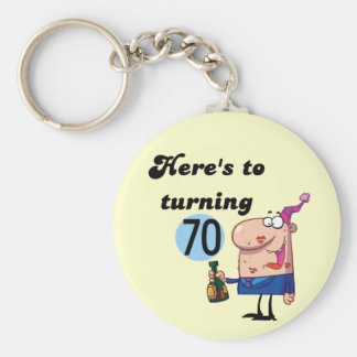 Cheers to 70 Birthday Tshirts and Gifts Keychain