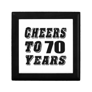 Cheers To 70 Years Birthday Small Square Gift Box