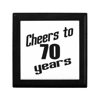 Cheers to 70 years small square gift box
