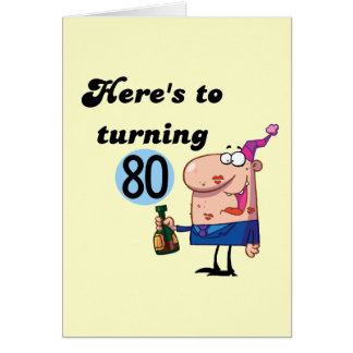 Cheers to 80 Birthday Tshirts and Gifts Greeting Cards