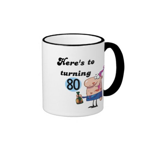Cheers to 80 Birthday Tshirts and Gifts Coffee Mugs