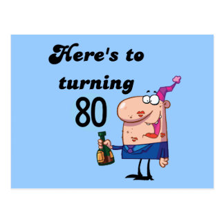 Cheers to 80 Birthday Tshirts and Gifts Post Card