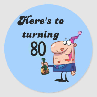 Cheers to 80 Birthday Tshirts and Gifts Stickers