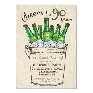 Cheers to 90 years Birthday Invitation