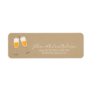 Cheers to a New Year Address Label