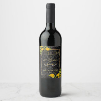 """Cheers to """"ADD AGE"""" Years - Any Birthday Wine Label"""