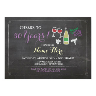 Cheers to Birthday Any Age Wine Brewery Invite