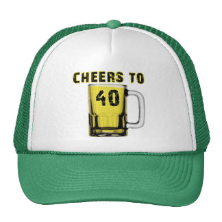 Cheers to Fourty . Birthday Mesh Hats