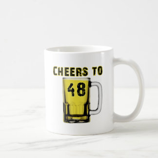 Cheers to Fourty Eight. Birthday Coffee Mugs