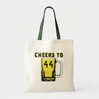 Cheers to Fourty Four. Birthday Budget Tote Bag