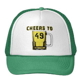 Cheers to Fourty Nine. Birthday Trucker Hats
