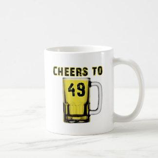 Cheers to Fourty Nine. Birthday Mugs