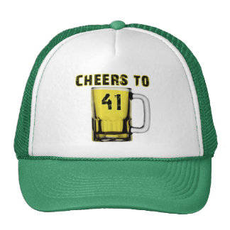 Cheers to Fourty One. Birthday Mesh Hats
