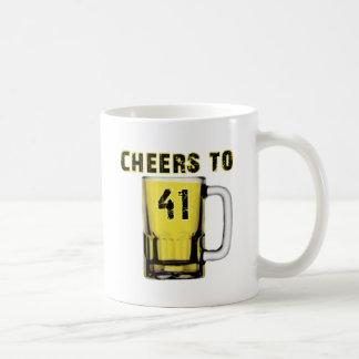 Cheers to Fourty One. Birthday Mug