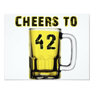 Cheers to Fourty Two. Birthday Personalized Announcement
