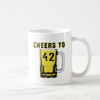 Cheers to Fourty Two. Birthday Mug