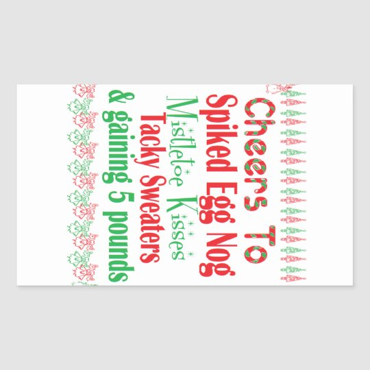 Cheers to Holiday Rectangular Sticker