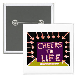 Cheers to Life -  Artist crafted Motifs 15 Cm Square Badge