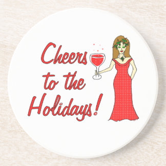 Cheers To The Holidays!  Sparkling Wine Goddess Coasters