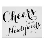 Cheers to the Newlyweds | Wedding Poster