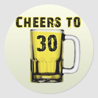 Cheers to Thirty . Birthday Classic Round Sticker