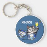 Cheers Toasting  Kitty Cat Cartoon Cute Keychains