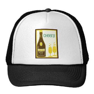 CHEERS VINTAGE CHAMPAGNE TOAST print Hats
