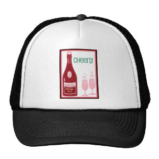 CHEERS VINTAGE CHAMPAGNE TOAST print Hat
