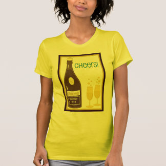 CHEERS VINTAGE CHAMPAGNE TOAST print T Shirt