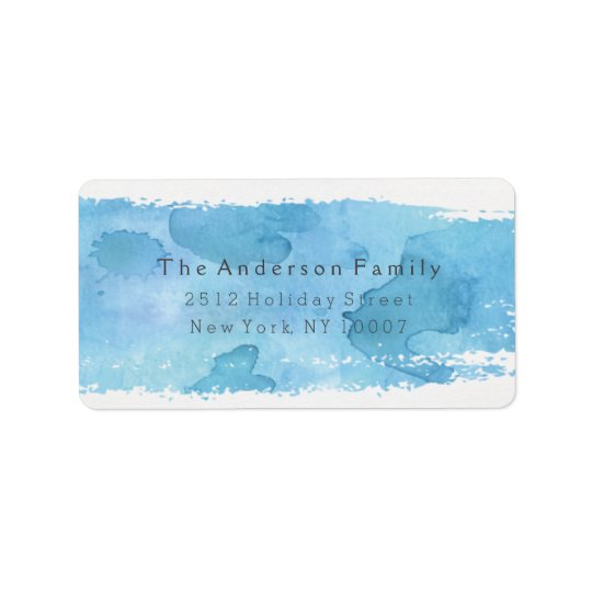 Cheers watercolor address label