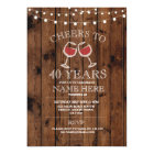Cheers Wine Tasting Wood Birthday Party Invite