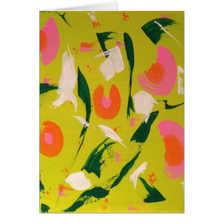 Cheery Abstract Blank Inside Greeting Card
