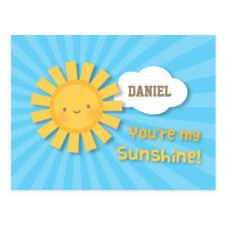 Cheery and Bright You Are My Sunshine Greeting Postcard