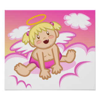 Cheery Baby Girl: Angel Poster