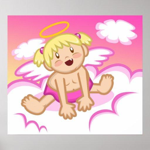 Cheery Baby Girl: Angel Poster