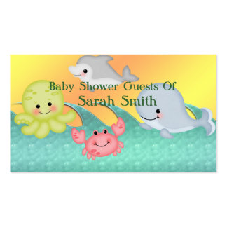 Cheery Baby Sea Creatures Baby Shower Pack Of Standard Business Cards