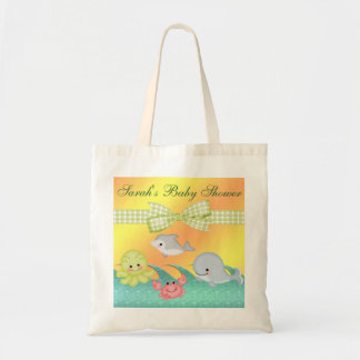 Cheery Baby Sea Creatures Baby Shower Budget Tote Bag