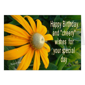 Cheery Bday Wishes Greeting Card