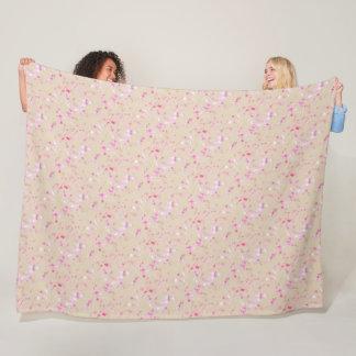 "Cheery Blossom Pattern Fleece Blanket, 60""x80"""
