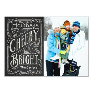 Cheery Chalkboard 13 Cm X 18 Cm Invitation Card