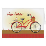 Cheery Cherry Bicycle Note Card