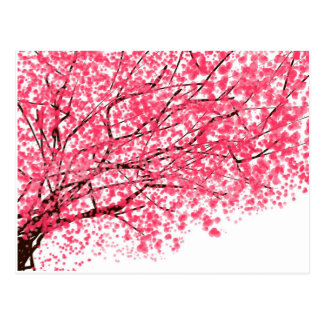 Cheery Cherry Blossom Postcard