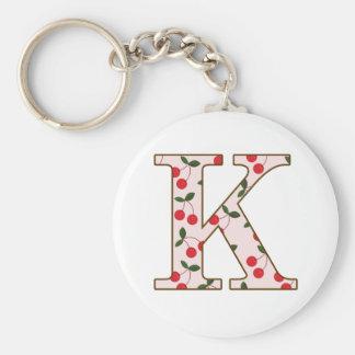 Cheery Cherry K Key Ring