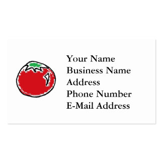 Cheery Cherry Tomato Cartoon Double-Sided Standard Business Cards (Pack Of 100)