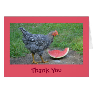 Cheery Chicken Thank You Card