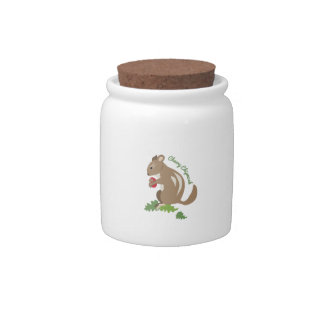 Cheery Chipmunk Candy Dishes