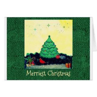 Cheery Christmas scene Greeting Card